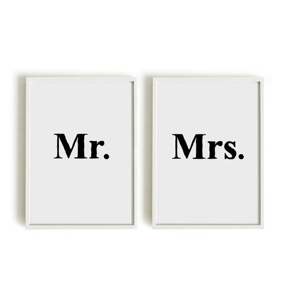 A4 Typography Posters Apartment Decor Bedroom Art Mr