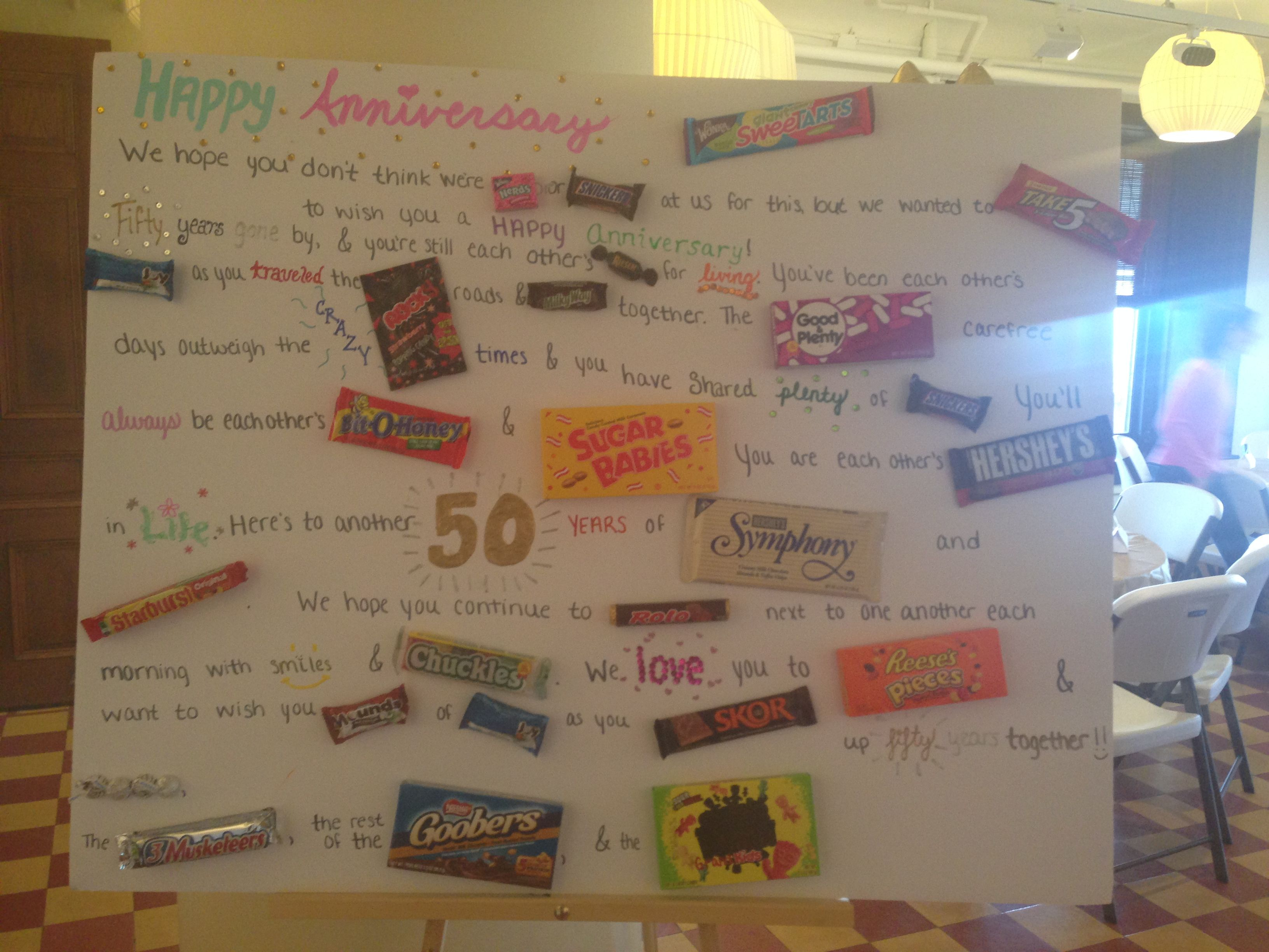 Diy Giant Candy Anniversary Card Birthday Cards Anniversary Cards Cards