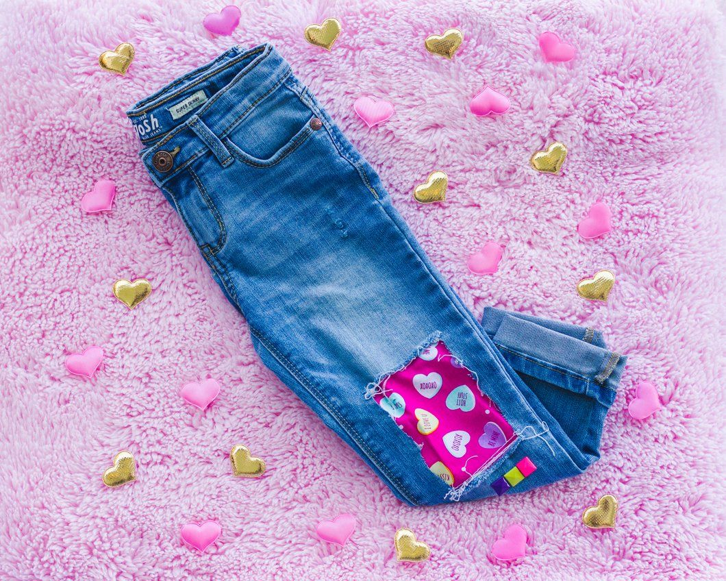 Conversation Heart Jeans