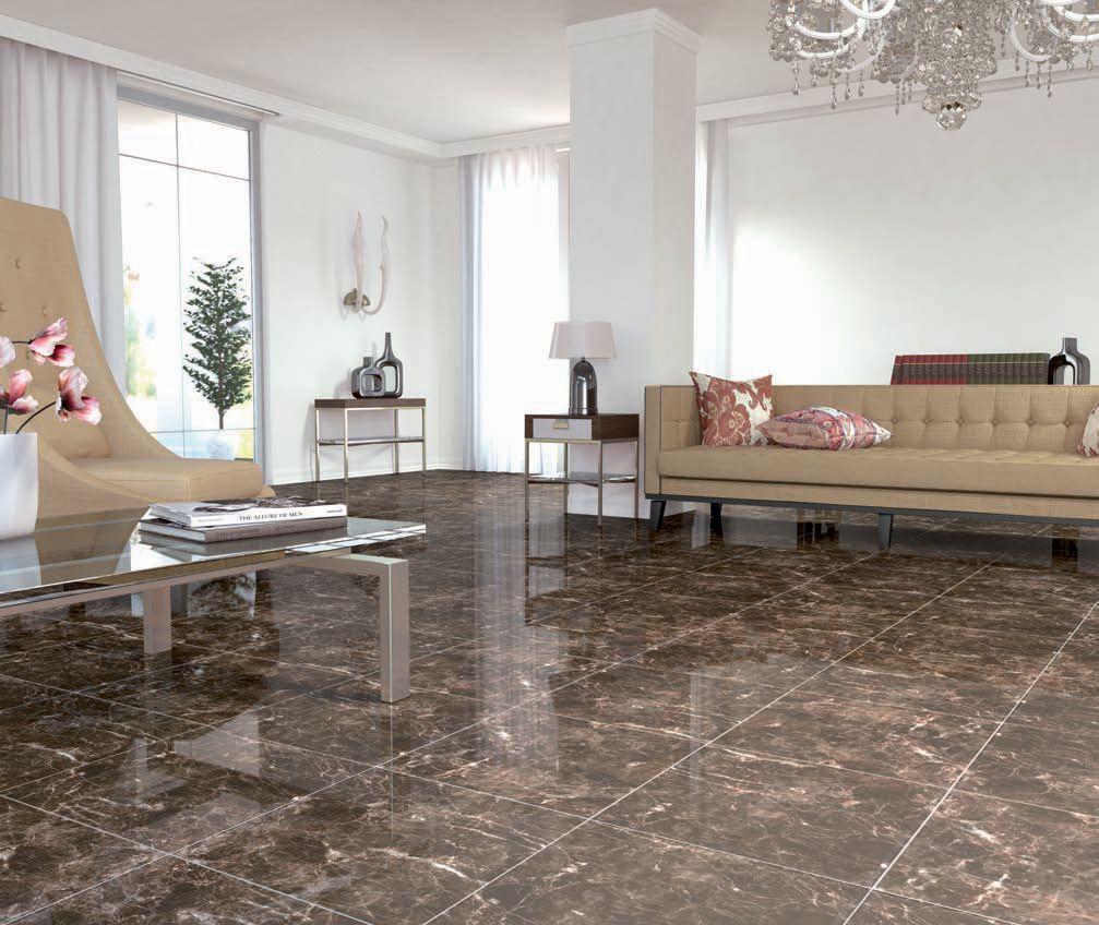 Emperador Brown Marble Effect Floor Tile | Fancy living rooms ...