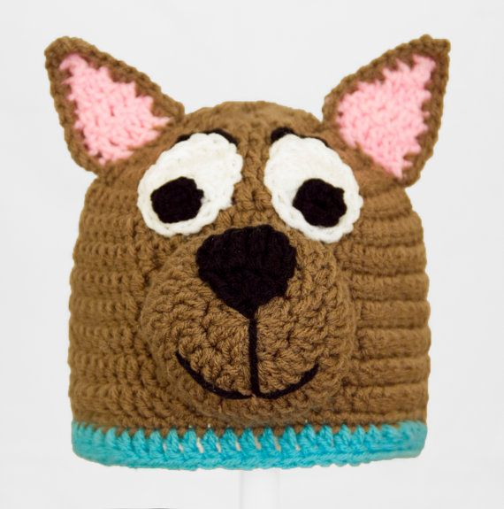 Scooby Doo Hat Brown Dog Crochet Beanie in any size by GeekinOut ...