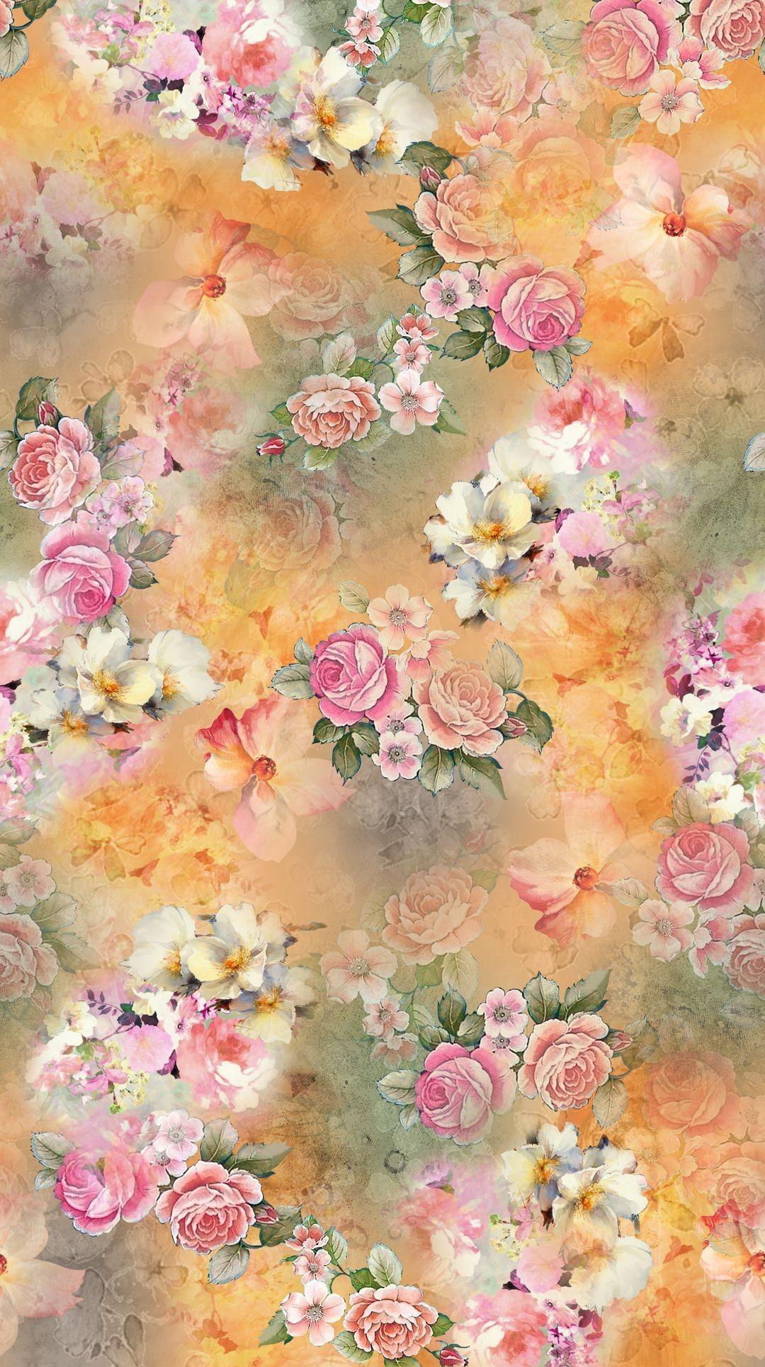 Luxury Flower Crown Wallpaper In 2020 Vintage Flowers Wallpaper Iphone Wallpaper Vintage Floral Wallpaper