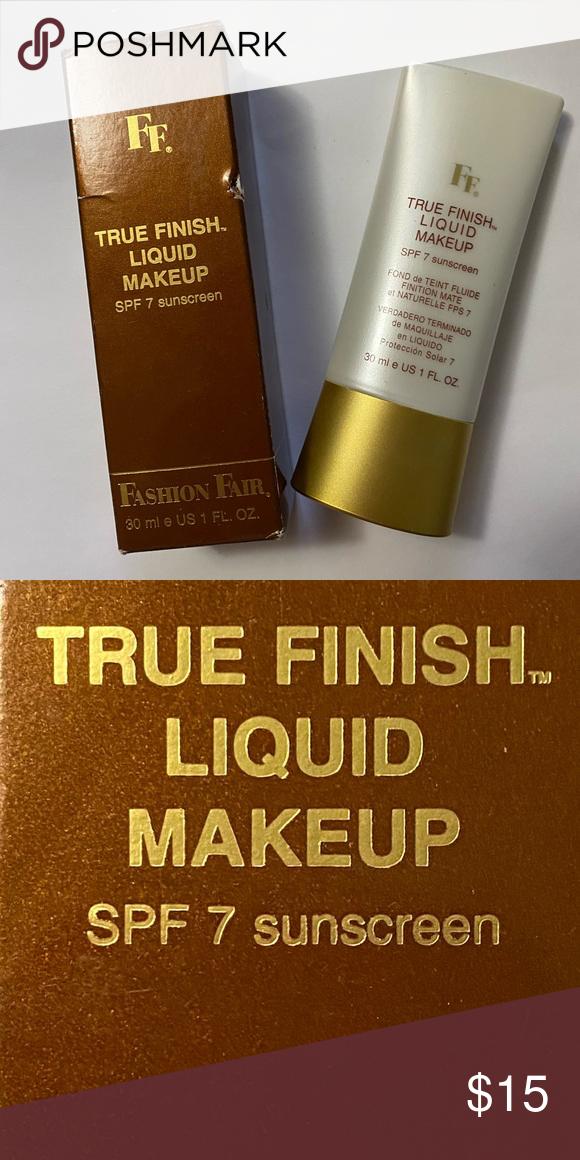 NEW! Fashion Fair True Finish Liquid Makeup SPF7 NWT in