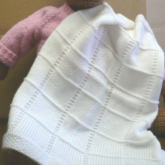 F013 Dreambaby DK Baby Squares Afghan (Free) | knit | Pinterest ...