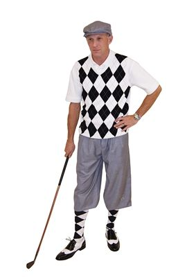 64f17d21fd293a Grey Silk Touch Knickers, and matching Cap coordinate with this  White/Black/Grey Argyle Sweater Vest and Socks to make up this Classic Men's  Complete Golf ...