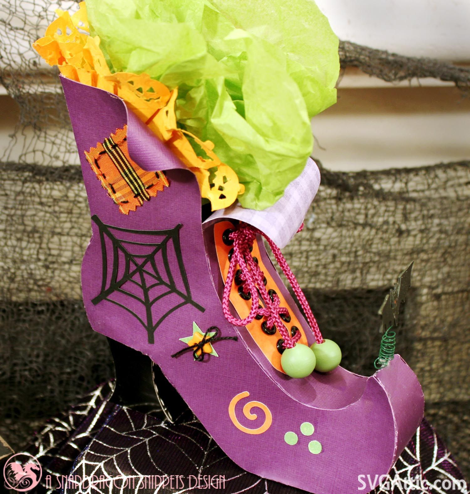 3D witch boot from JGW Bewitched Botique svgattic svg