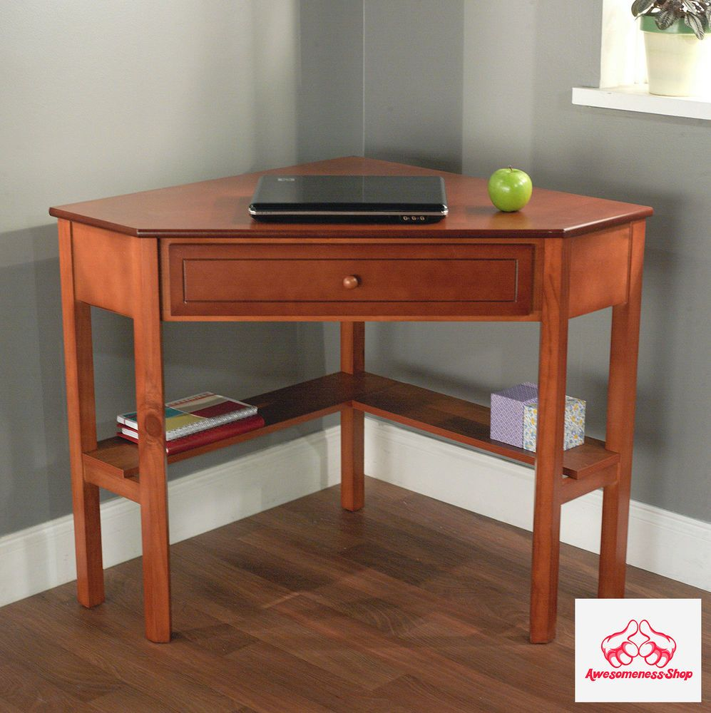 corner desk with drawer cherry writing furniture study table small spaces home - Computer Desk For Small Spaces