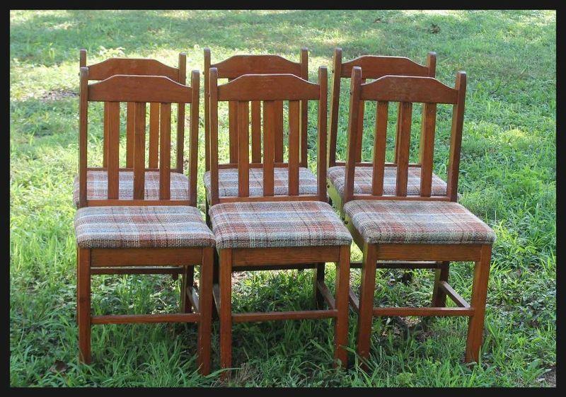 Risultati immagini per Tree Bench Made From Kitchen Chairs