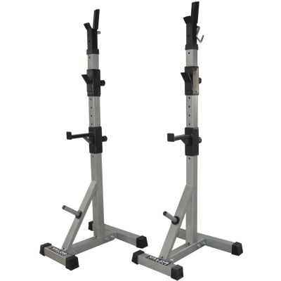 Bd 9 Power Squat Stands Are The Perfect Solution When Space Is An Issue With Weights Stored On The Bottom Pegs These Are At Home Gym Squat Stands Squat Rack