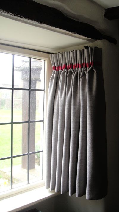 Bias Binding Trim At Pleat Level Window Treatments Bedroom Home