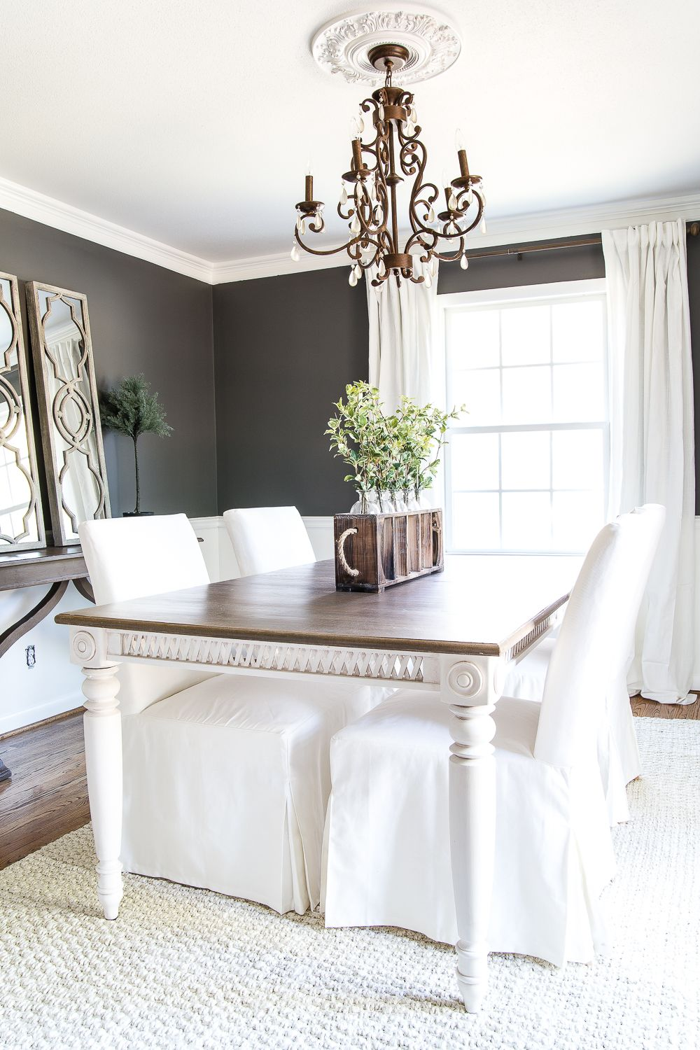 Two tone dining table makeover dining table makeover paint