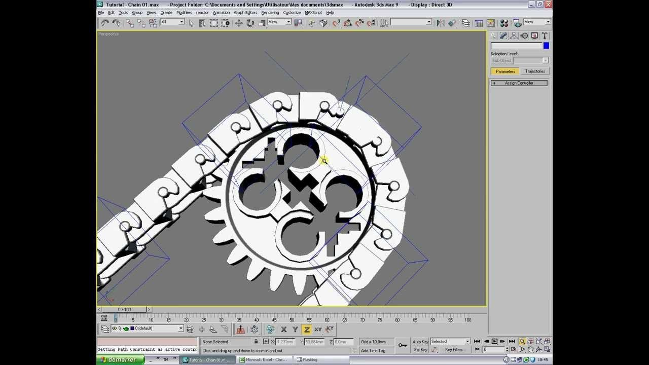Tutorial - Rig of mechanical chain - Part 2 | 3D Rigging