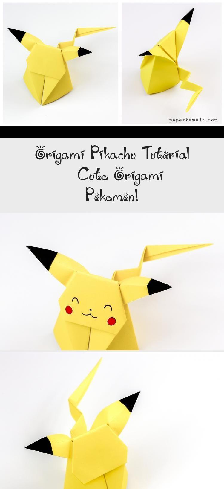 Pokémon Origami Book | Book origami, Cute origami, Kids origami | 1635x750