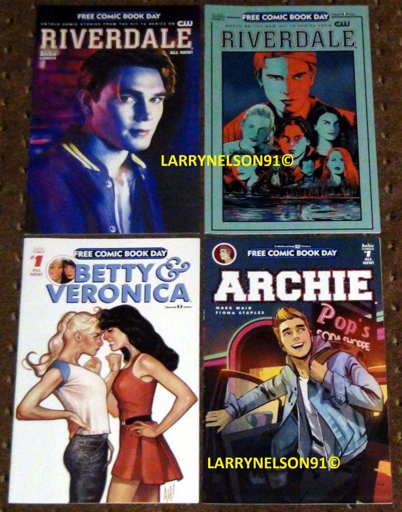 Archie Betty Veronica Riverdale Fcbd Free Comic Book Day