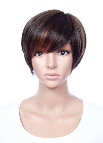 Prettyland C703 - 30cm colori armoniosi contrasti marrone striato capelli corti neri alla moda parrucca, http://www.amazon.it/dp/B00K02N4U6/ref=cm_sw_r_pi_s_awdl_Ns4Hxb6B5S51Q