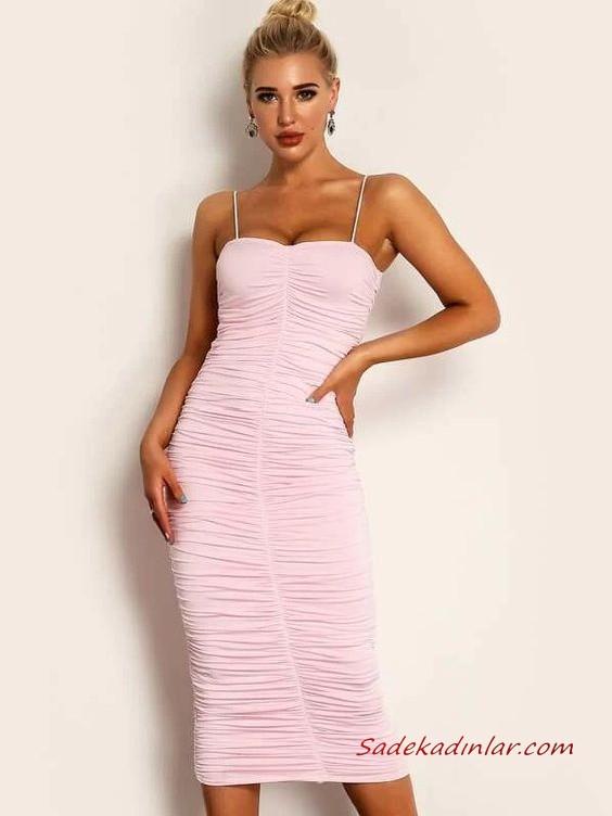 Ilkbahar Yaz Icin Muhtesem 2020 Yazlik Elbise Modelleri Pembe Mini Omzu Acik Yetim Kol Cicek Desenli 2020 Kalem Elbise Elbise Modelleri Elbise