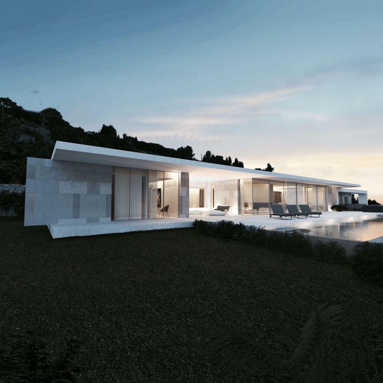 Villa contemporaine - Côte d\'Azur - par a2-sb architectes ...