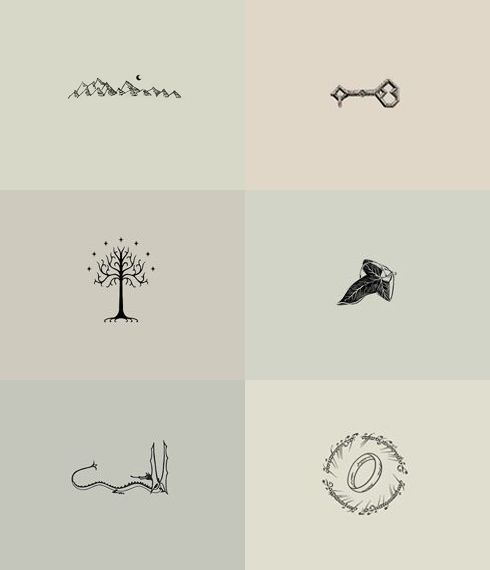 lotr tattoos for my brother tolkien minimalist drawings really want one or two of these on my body
