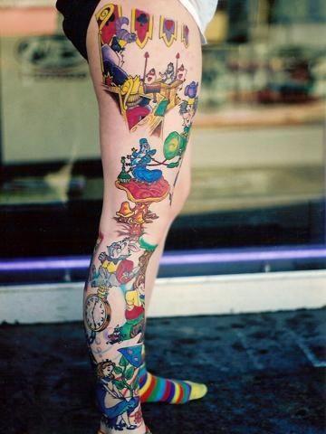 Love It Tatuagem Alice No Pais Das Maravilhas Tatuagem De