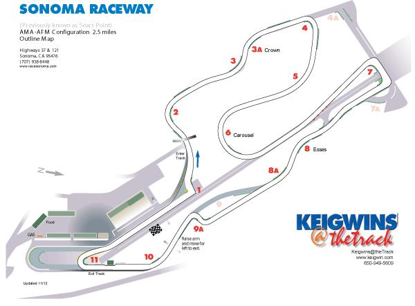 Track Map Sonoma Raceway Sonoma Raceway Race Track Sonoma