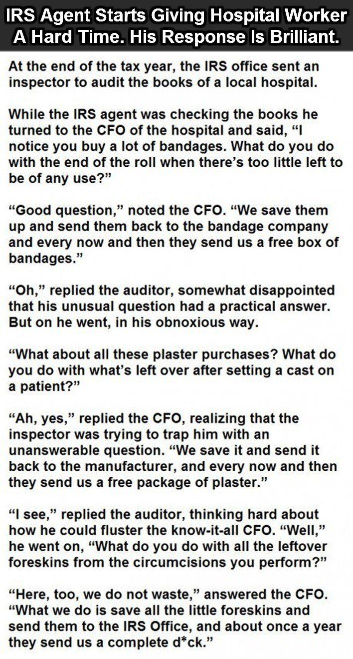 How To Mess With An Irs Agent This Guy Is A Hero Really Funny Funny Quotes Funny Jokes
