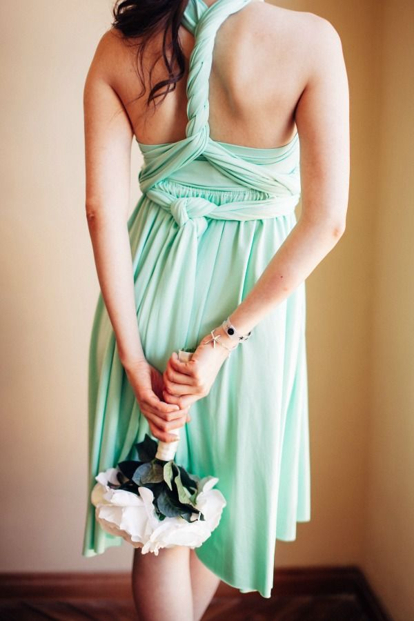 Mint bridesmaid dress | Mint And Coral Jamaica Beach ...