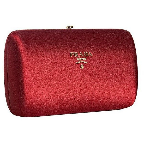 a8160a68083d ... norway prada ruby satin logo box clutch 9350 mxn liked on polyvore  featuring bags handbags clutches