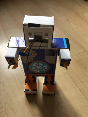 Robots and Physical Computing: DIMM 'the OOD' Cardboard Robot