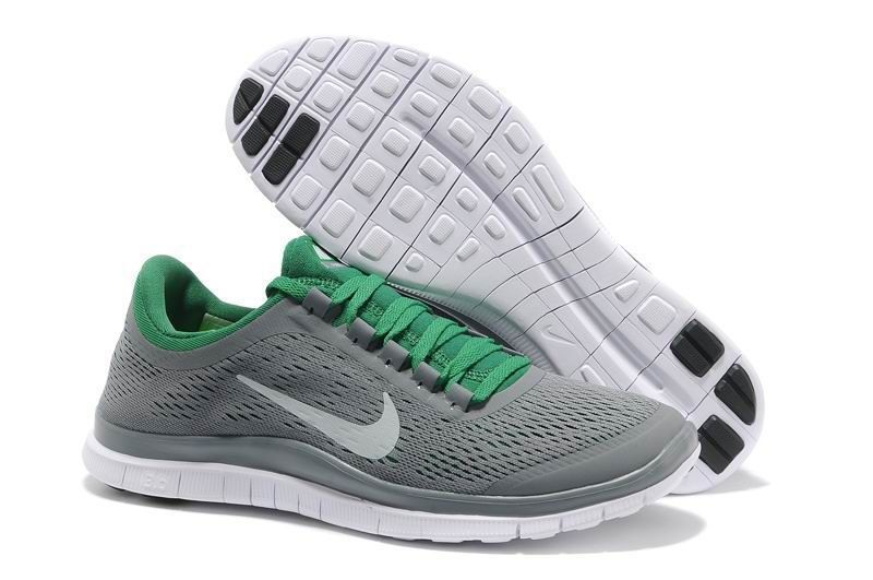 Nike Free 3.0 V5 Mens Grey Green Running Shoes UK Sale