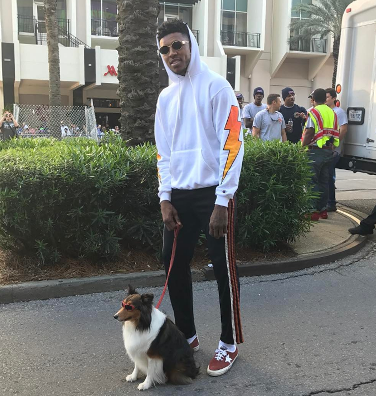 Photo of Nick Young & his  Dog