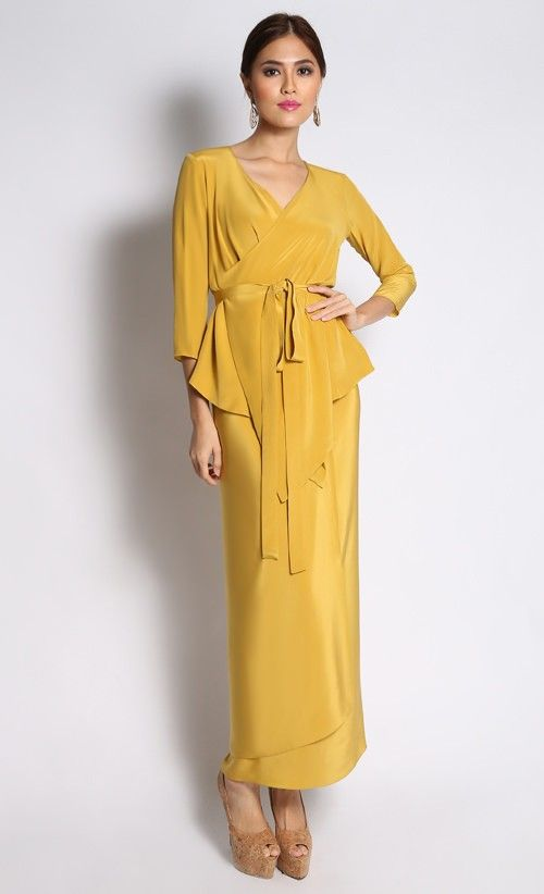 Wrap Top with Matching Sarong in Yellow Mustard  99c4bb5633