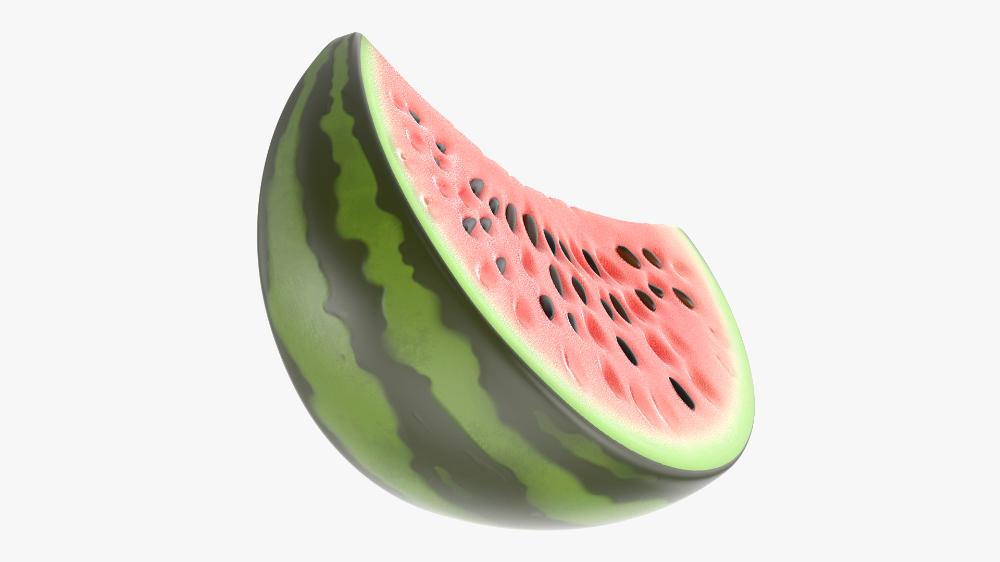 3d Cartoon Watermelon Slice Water Turbosquid 1583933 Watermelon Watermelon Slices Watermelon Cartoon