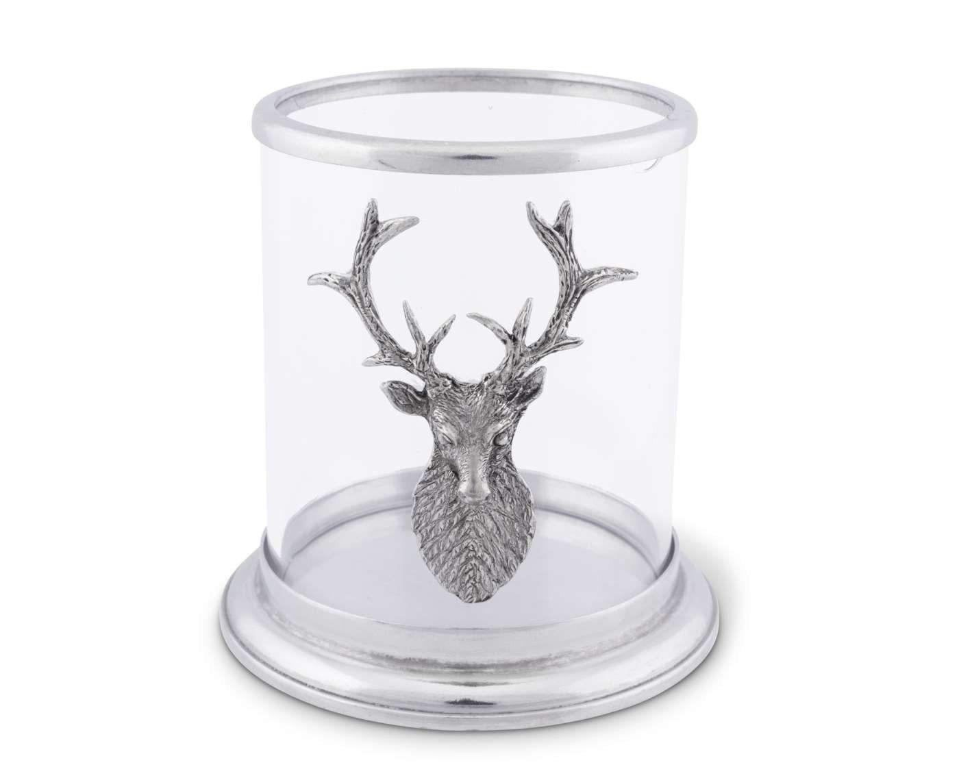 Small Elk Pillar Candle Holder