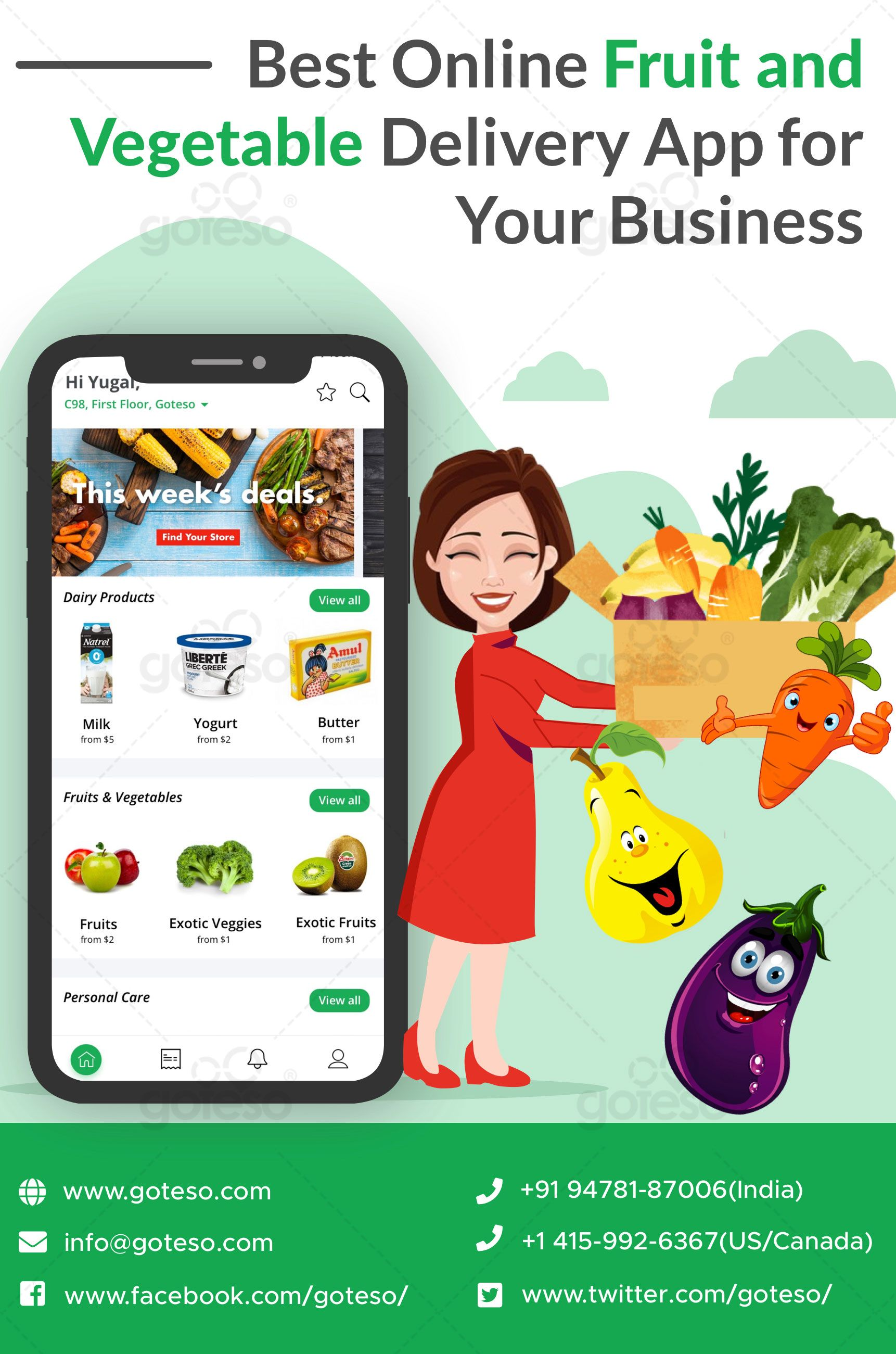 A reliable online fruit and vegetable delivery business