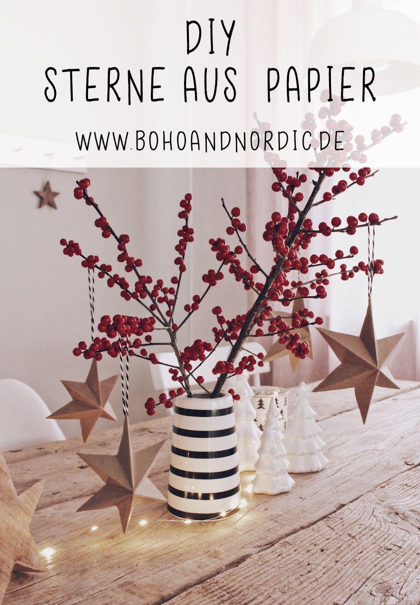 Weihnachtsdeko Sterne aus Papier - Dekoration selber machen
