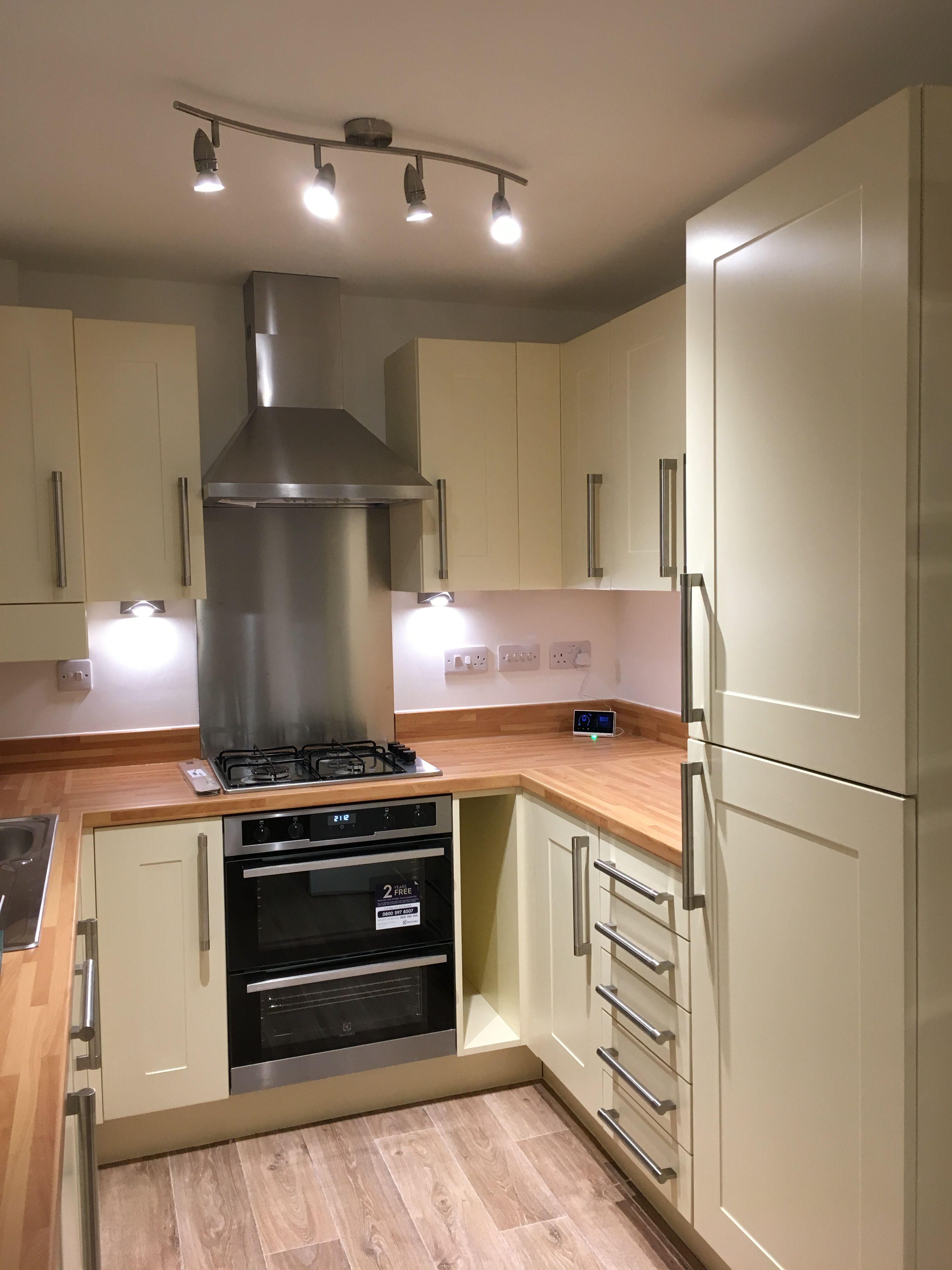 beige color small kitchen decor idea Kitchen
