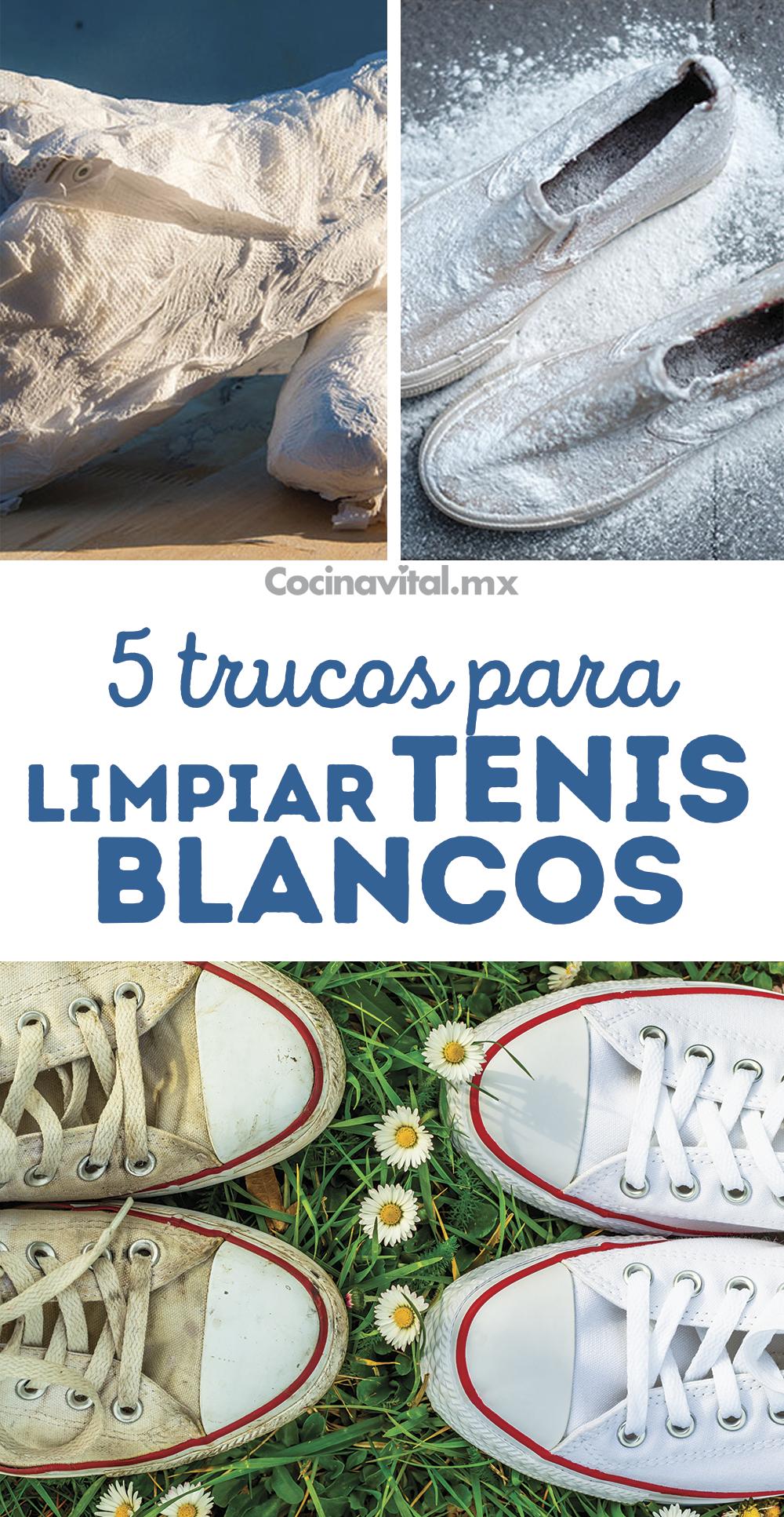 5 Trucos Para Dejar Tus Tenis Blancos Como Nuevos Limpieza De Zapatos Trucos Para Lavar La Ropa Como Blanquear La Ropa