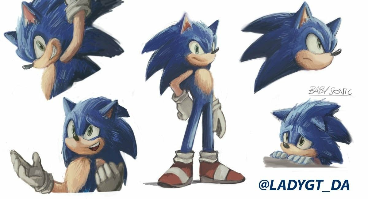 Improved Movie Style Sonic Fan Art Hedgehog Drawing Sonic
