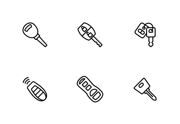 Car Key Icons By Vector Win Key Icon Car Keys Icon Set Vector