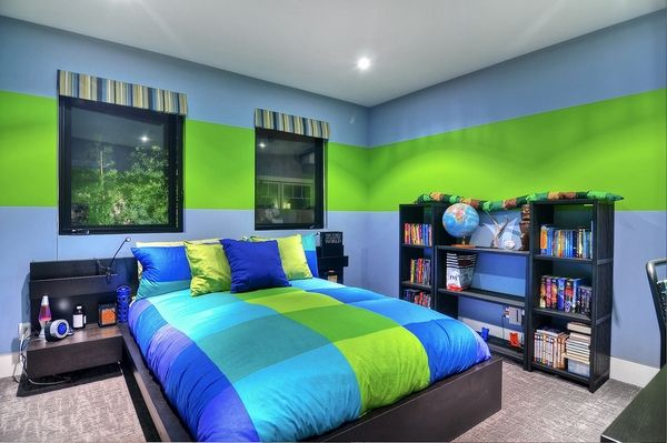 Modern And Cool Teenage Bedroom Ideas For Boys And Girls Boys Bedroom Green Green Boys Room Boys Bedroom Colors