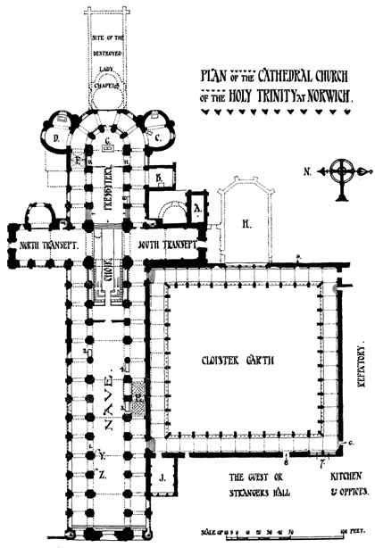 Catedral De Norwich Inglaterra Plan Of The Cathedral Catedral Gotica Catedral Arquitectura Romana