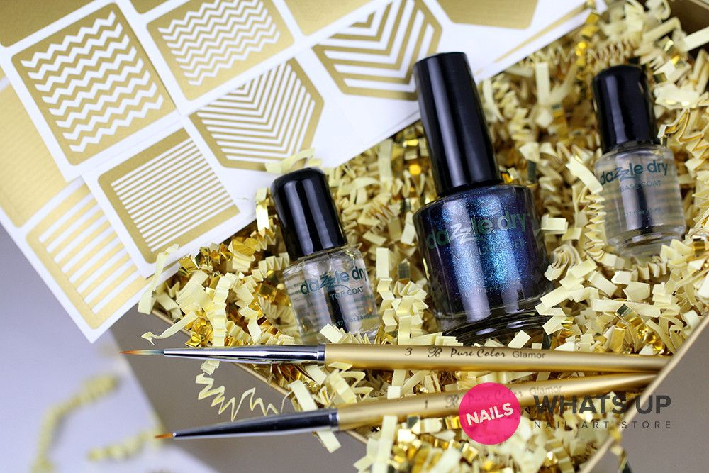 Gold Christmas Gift Box (US only)   Whats Up Nails   Nail Art Store