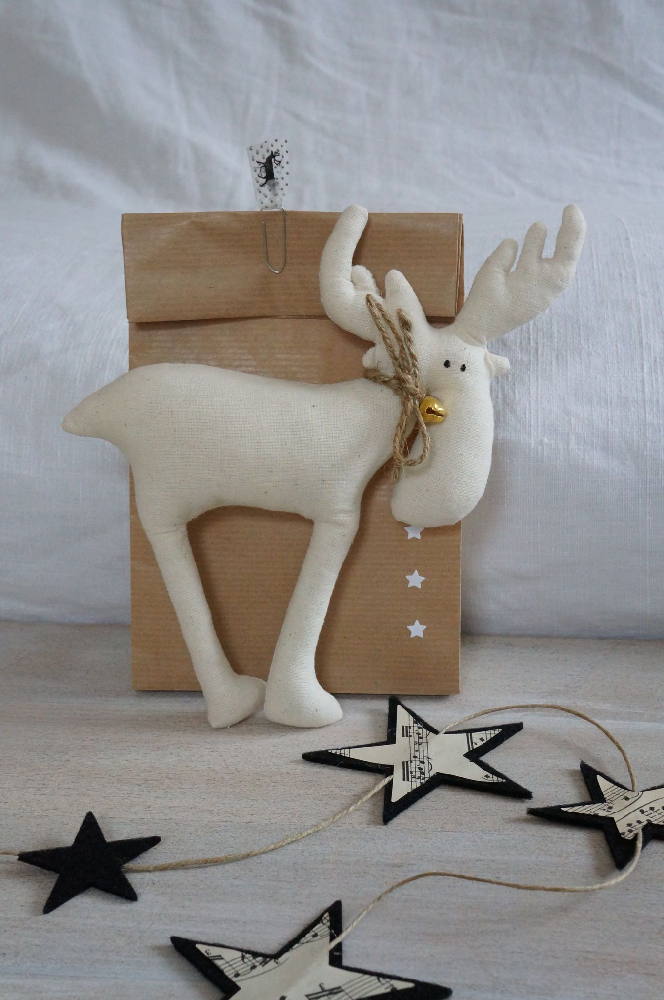 Weihnachtsdeko elch nahen schnittmuster frohe - Weihnachtsdeko nahen ...
