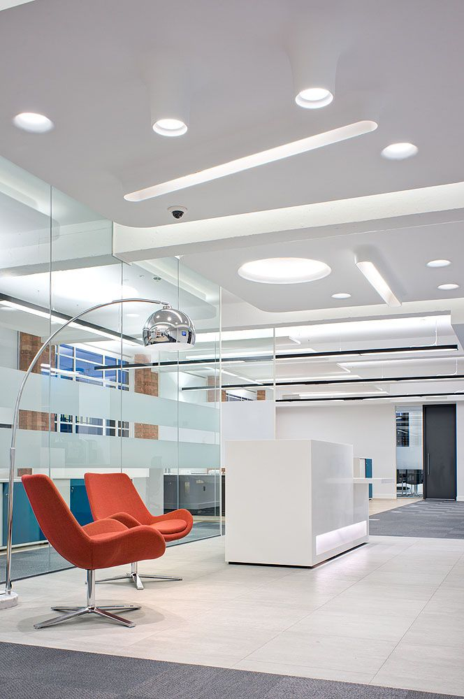 Reception area in the heart of london a 15000 sq ft office design and build