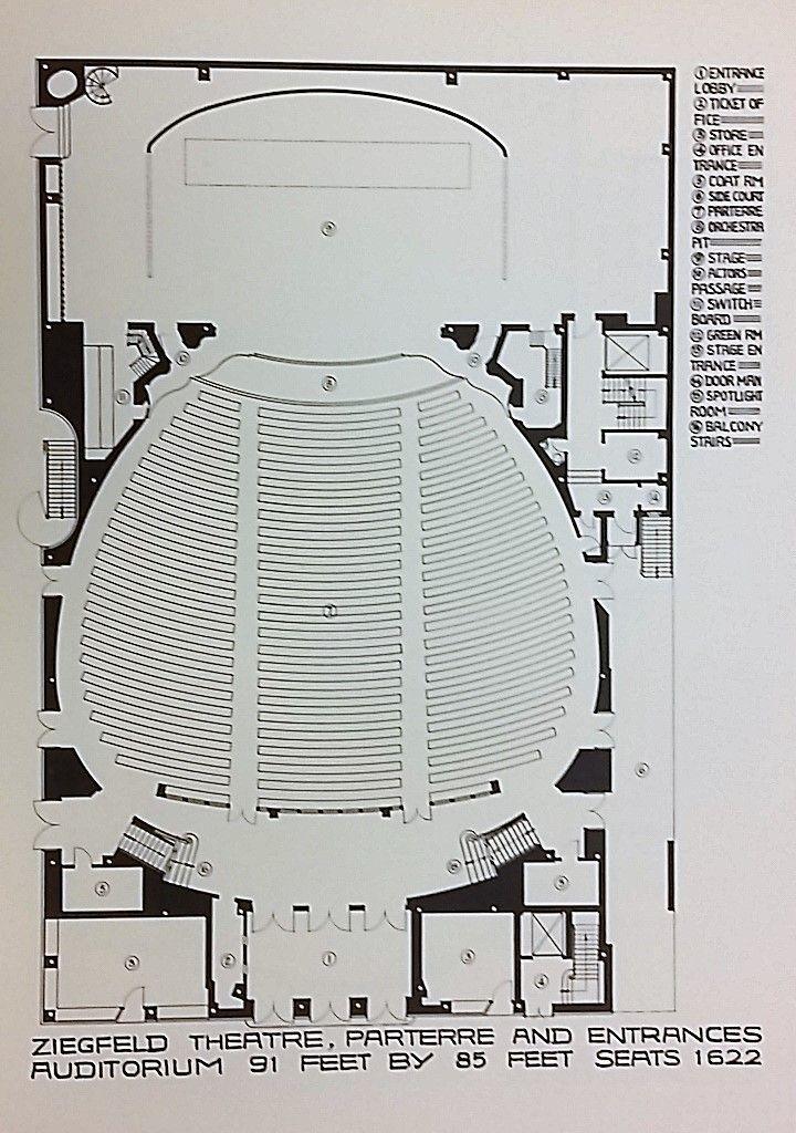 Ziegfeld Theater Parterre Plans Theatre Interior World Theatre Parterre