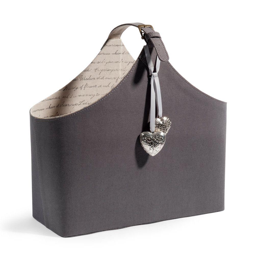 porte revues en tissu gris d co pinterest tissu gris porte revues et porte revue. Black Bedroom Furniture Sets. Home Design Ideas