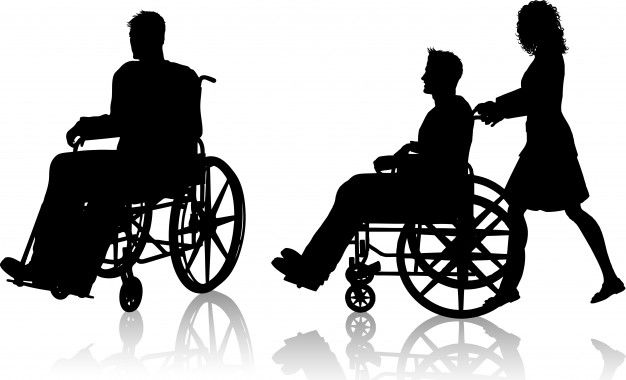 Silhouette Of Man In Wheelchair Free Vector Freepik Freevector Wheelchair Silhouette Man Nurse Art