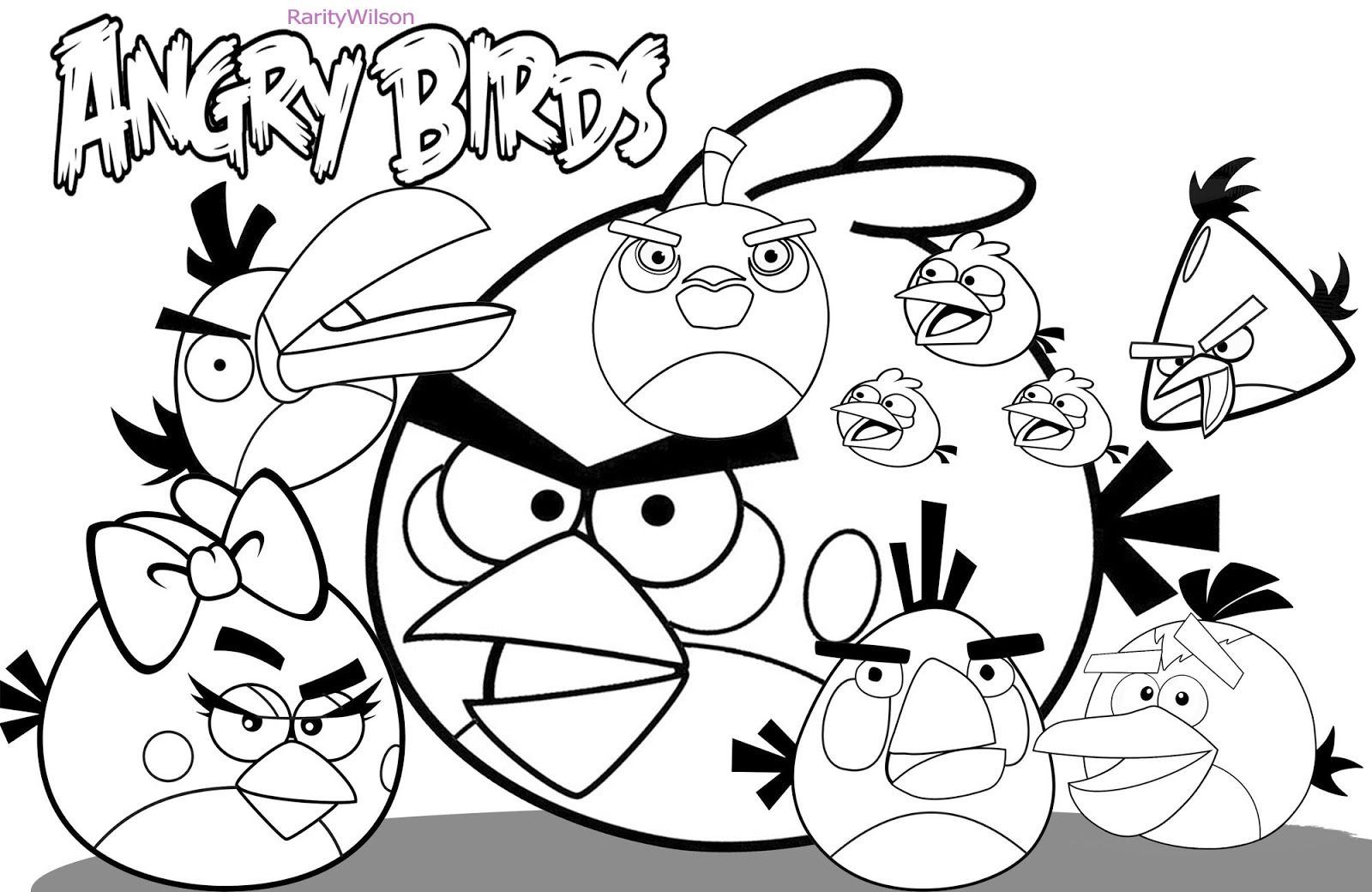 Angry Birds Bird Coloring Pages Unicorn Coloring Pages Dinosaur Coloring Pages