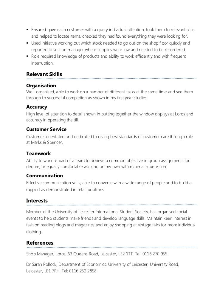 Resume For Student Looking For Part Time Work - The best expertu0027s - relevant skills for resume