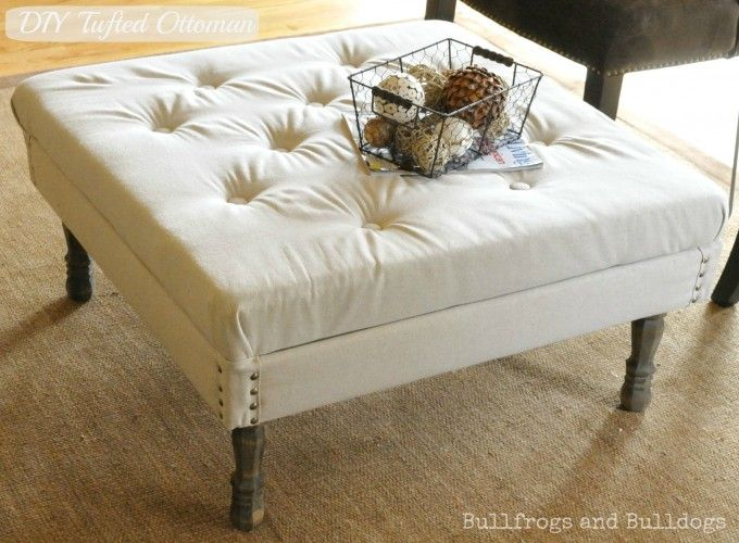 diy tufted ottoman | great ideas for laundry room | Pinterest ...